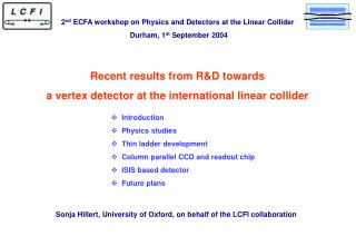 Recent results from R&D towards  a vertex detector at the international linear collider