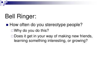 Bell Ringer: