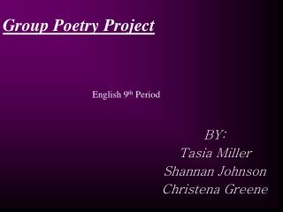 Group Poetry Project