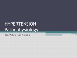 HYPERTENSION Pathophysiology