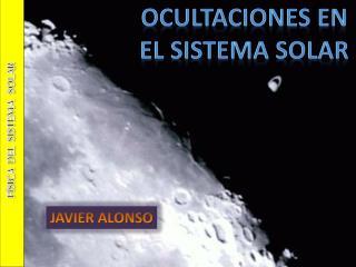 Ocultaciones en  el sistema solar