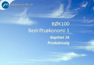 BØK100 Bedriftsøkonomi 1