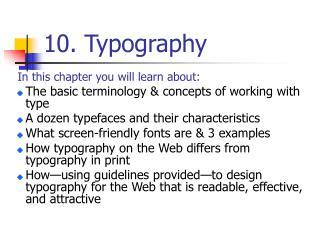 10. Typography
