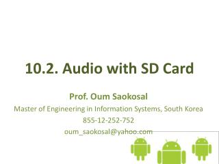 10.2. Audio  with SD Card