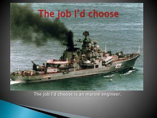 The job I'd choose
