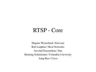 RTSP - Core