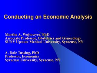 Conducting an Economic Analysis