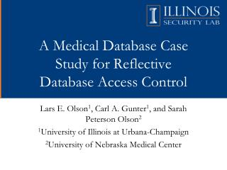 A Medical Database Case Study for Reflective Database Access Control