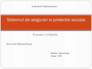 Sistemul de a sigurari si protectie sociala