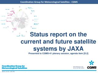 Overview - Planning of JAXA satellite systems