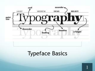 Typeface Basics