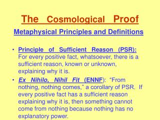 The   Cosmological   Proof