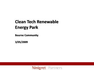 Clean Tech Renewable Energy Park  Bourne Community   3
