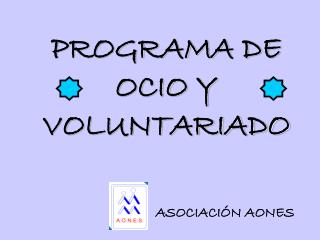 PROGRAMA DE OCIO Y VOLUNTARIADO
