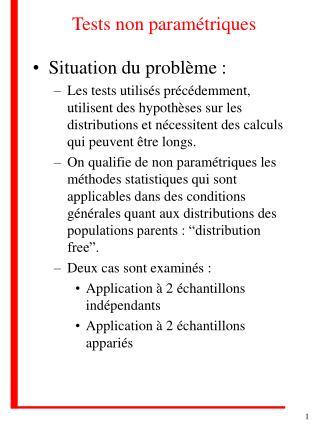 Tests non paramétriques