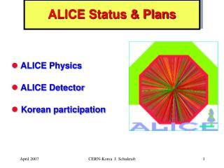 ALICE Status & Plans