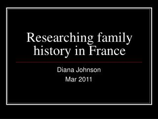 Researching family history in France
