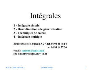 Intégrales