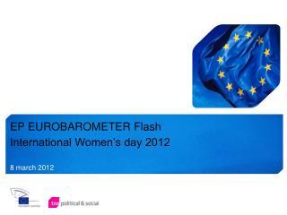 EP EUROBAROMETER Flash International Women's day 2012