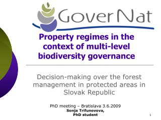 Property regimes in the context of multi-level biodiversity governance