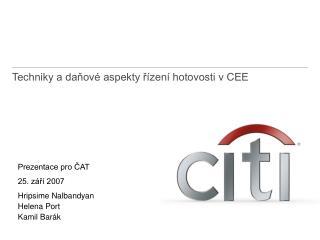 Techniky a daňové aspekty řízení hotovosti v CEE