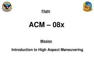 ACM – 08x