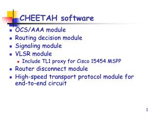 CHEETAH software