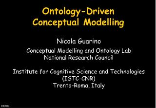 Ontology-Driven Conceptual Modelling