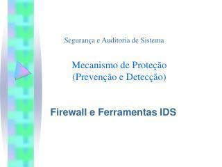 Mecanismo de Proteção  (Prevenção e Detecção)