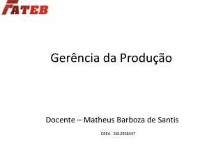 Gerência da Produção