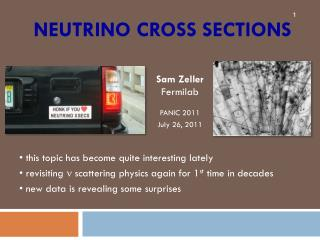 Neutrino cross sections