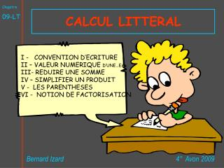 CALCUL LITTERAL