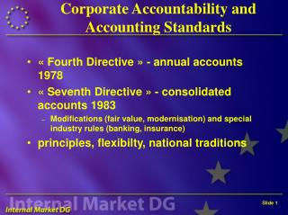 Corporate Accountability and Accounting Standards