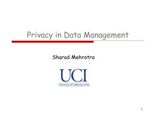 Privacy in Data Management