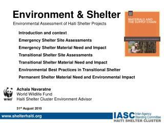 Environment & Shelter