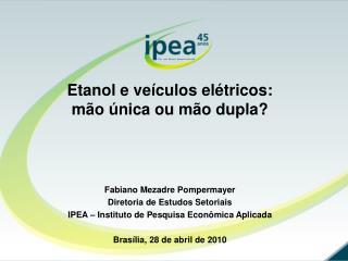 Etanol e veículos elétricos: mão única ou mão dupla?