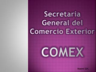 Secretaria  General del Comercio Exterior COMEX