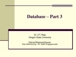 Database – Part 3