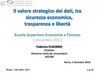 Il valore strategico dei dati, tra sicurezza economica,  trasparenza e libertà