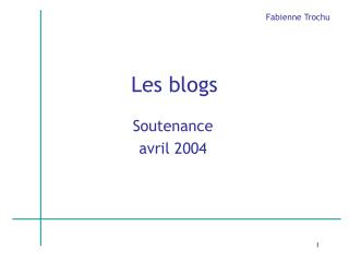Les blogs
