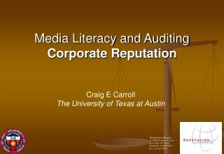 Media Literacy and Auditing  Corporate Reputation