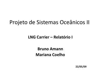 Projeto de Sistemas Oce�nicos II
