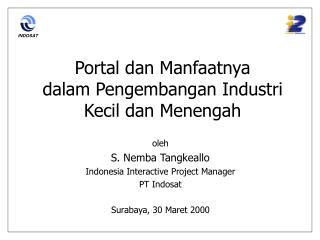 Portal dan Manfaatnya  dalam Pengembangan Industri Kecil dan Menengah