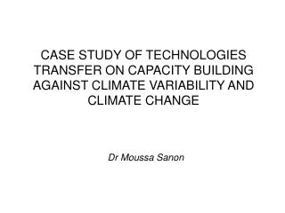 Dr Moussa Sanon