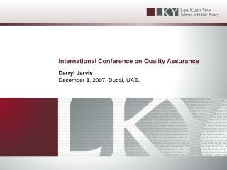 International Conference on Quality Assurance