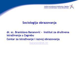 Sociologija obrazovanja