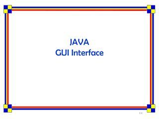 JAVA GUI Interface