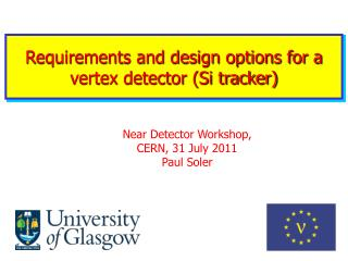 Requirements and design options for a vertex detector (Si tracker)