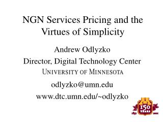 NGN Services Pricing and the Virtues of Simplicity