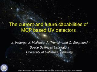 The current and future capabilities of MCP based UV detectors
